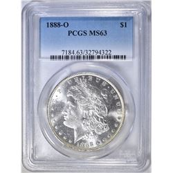 1888-O MORGAN DOLLAR  PCGS MS-63