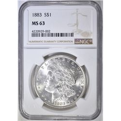 1883 MORGAN DOLLAR  NGC MS-63