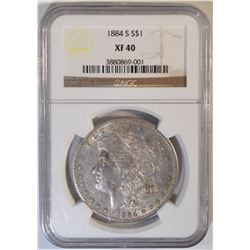 1884-S MORGAN DOLLAR   NGC XF-40
