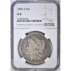 1893-S MORGAN DOLLAR  NGC G-6