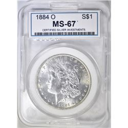 1884-O MORGAN DOLLAR  CSI SUPERB GEM
