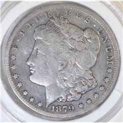 1879-CC MORGAN DOLLAR   FINE