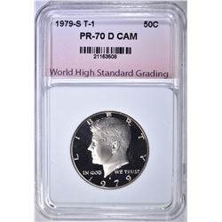 1979-S T-1 KENNEDY HALF WHSG PERFECT GEM BU DCAM