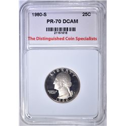 1980-S WASH. QUARTER, TDCS PERFECT GEM PR DCAM
