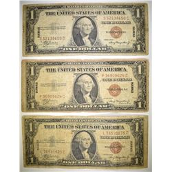 3-1935 $1.00 HAWAII SILVER CERTIFICATES LOW GRADE