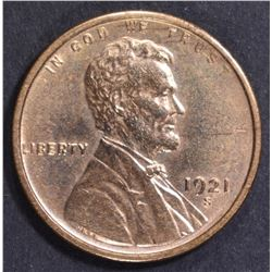 1921-S LINCOLN CENT BU CLEANED