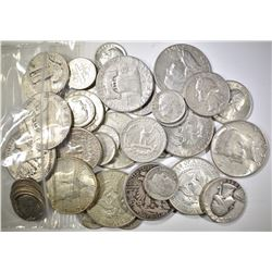 $10.00 FACE VALUE MIXED 90% SILVER U.S. COINS