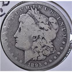 1893-CC MORGAN DOLLAR, GOOD