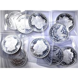 10-ONE OUNCE .999 SILVER MORGAN REPLICAS