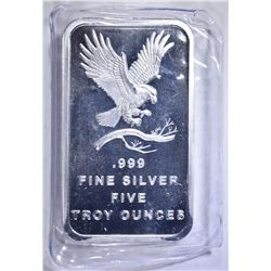 "FIVE OUNCE .999 SILVER BAR ""EAGLE'"