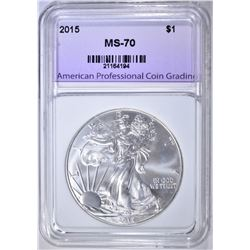 2015 AMERICAN SILVER EAGLE, APCG PERFECT GEM BU