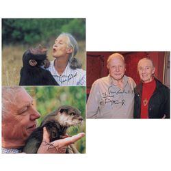 Jane Goodall and David Attenborough