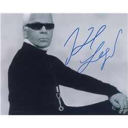 Karl Lagerfeld and Pierre Cardin