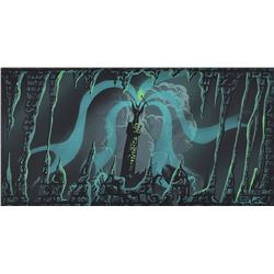 Eyvind Earle concept storyboard painting of Maleficent from Sleeping Beauty