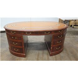 Rounded Wooden Desk with Drawers - Jim Nabors' Personal Desk