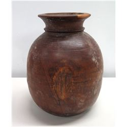 "Wooden Carved Vessel, Made in India 10"" x 13"""