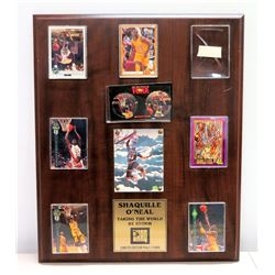 Shaquille O'Neal 'Taking The World By Storm' Ltd. Ed. 9461/15000 Sports Cards on Wooden Plaque