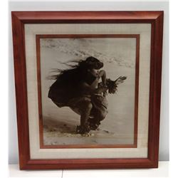 """Kim Taylor Reece Hula Girl Framed Print 23"""" x 26"""" (framed by Pictures Plus)"""