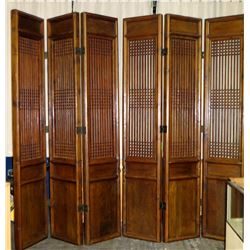"Qty 2 Tall Wooden Carved Certified Antique 3-Panel Dividers 108""L x 106""H Each"