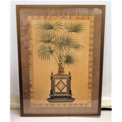 "Large Framed Art with Weave-Texture Matting : Palm Tree Print 43"" x 60"""