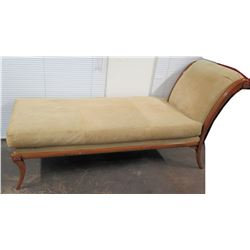 "Upholstered Beige/Tan Chaise Lounge 55"" x 30"" x 40""H"