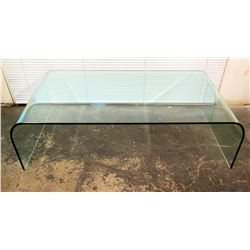"""Modern Curved Glass Coffee Table 48"""" x 25"""" x 17""""H"""