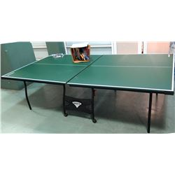 "Sportcraft Folding Ping Pong Table w/ Rackets, Balls & Accessories 108""L x 60""W"