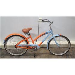 Hello Kitty Orange & Blue Single-Speed Cruiser Bike w/ Coaster Brakes
