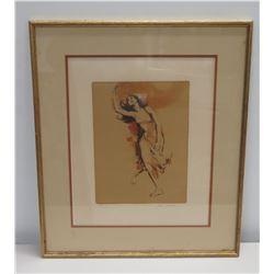 "Framed Art: Dancing Girl, Ltd. Edition 103 of 300, Signed by Artist Jim Jonsen 20"" x 23"""