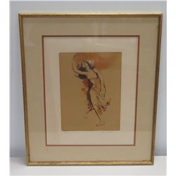 Framed Sketch Art: Dancing Girl, Ltd. Edition 103 of 300, Original Signature by Artist Jim Jonsen 20