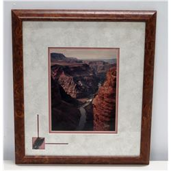 "Framed Canyon Scene, Signed by Artist 16"" x 18"""