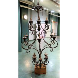 "Very Large Chandelier w/ Scrolling Metal Design 50"" x 92"""