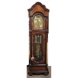 Charles R. Sligh Wooden Grandfather Pendulum Clock 8212106A14485