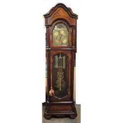 "Charles R. Sligh Wooden Grandfather Pendulum Clock 8212106A14485 (21.5""W x 13.5""D x 88""H)"