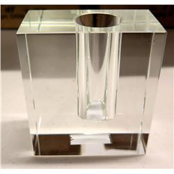 Qty 2 Cases of 6 ea. Crystal Block Stem Vase, New in Box, Made in China