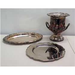 Ralph Lauren MCMLXVII Platter, Leonard Silverplate Ice Bucket & Sheffield Tray