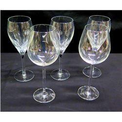 Qty 5 Stemmed Wine Glasses