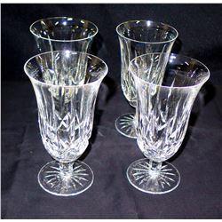 Qty 4 Cut Glass Crystal Parfait Dessert Glasses