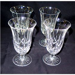 Qty 4 Cut Glass Crystal Parfait Dessert Glasses
