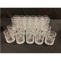 Qty 12 Geometric-Pattern Glass Beverageware