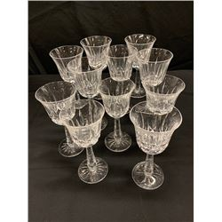 Qty 11 Stemmed Crystal Wine Beverageware