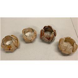 Qty 4 Abalone Votive Candleholders