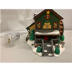 Miniature Ceramic Snow Village Mill House w/ Lighting