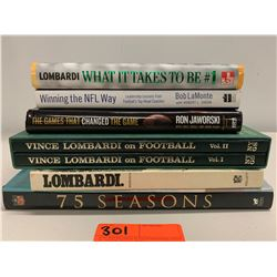 7 Books: Misc. NFL, Vince Lombardi, 75 Seasons, etc. (one autographed book)