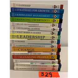 16 Books: Misc. Business Management, Change, Leadership, Communication, Corporate Responsibility, et