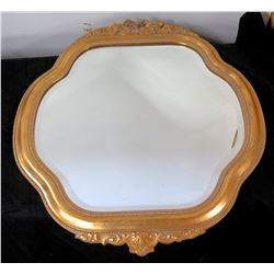 "Gilt Framed Mirror 25"" Diameter"
