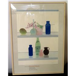 "Framed Still Life Watercolor, Signed by Elizabeth Osborne '81 Gallery 26"" x 36"""