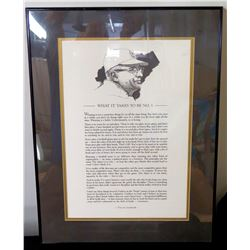 "Framed & Matted Vince Lombardi Green Bay Packers Inspirational Art 18"" x 24"""