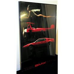 "Framed Print (The BMW M-1 Girl, Airplane, Sports Car) 22"" x 32"""