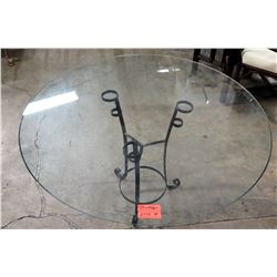 "Round Glass Table Top (top only) 48"" Diameter"